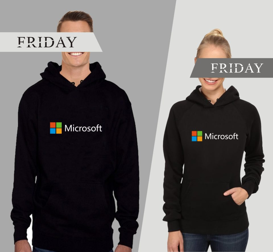 Google Microsoft Logo Printed IT Hoodies Sweatshirt Fashion Long Sleeve Cool Loose Sweatshirt Casual Pullover Soft Sweatshirt