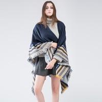 Donne Imitazione di Cachemire Vendita Caldo Split Scialle Autunno e L'inverno Nuove Sciarpe Aria Condizionata Mantello Scialle AXD1910