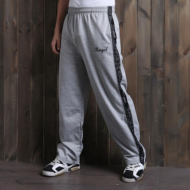 Fora Top Mid Ruched Sweatpants Jogger Calças exercício Nova Primavera 2017 Plus Size Solta dos homens do Algodão Verão Harem Pants Soltos calças