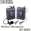 BOYA BY-WM5 DSLR Camera Wireless Lavalier Microphone Audio Studio Recorder System for Canon 6D 600D Nikon D800 Sony DV Camcorder