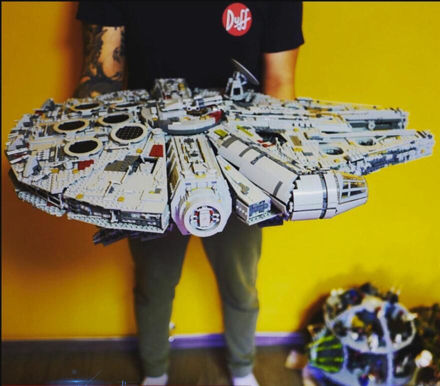 05132 destructor de estrellas Millennium Falcon 75192 ladrillos modelo bloques de construcción juguetes educativos guerras