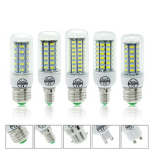 E27 E14 LED Corn Lamps SMD5730 220V G9 GU10 B22 Bulbs 24 36 48 56 69 72LEDs Chandelier Candle LED Lights For Home Decrations(China)
