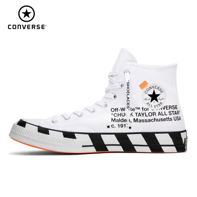 7a9fc870f CONVERSE X OFF-WHITE Chuck Taylor 1970s Men And Women Skateboarding Shoes  Anti-Slippery Outdoor Sports Sneakers #163862C ~ Super Deal July 2019