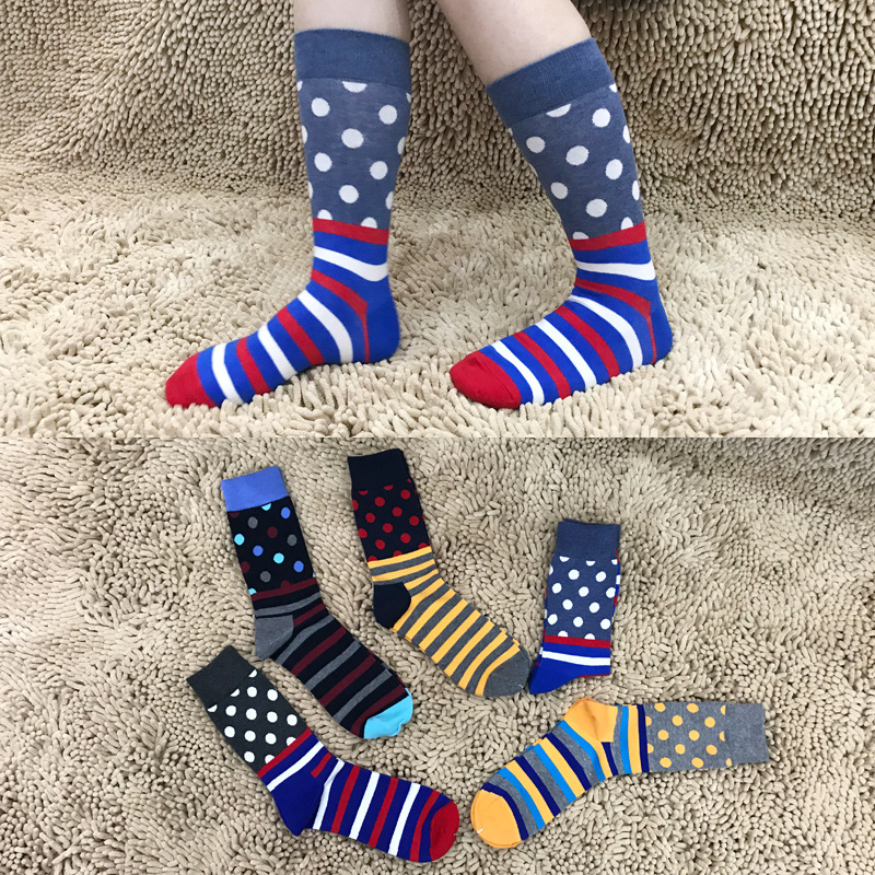 Trampoline socks women & men Knee-High cotton thermal Gym sports Yoga socks for Skiing Cycling Running Christmas Happy socks