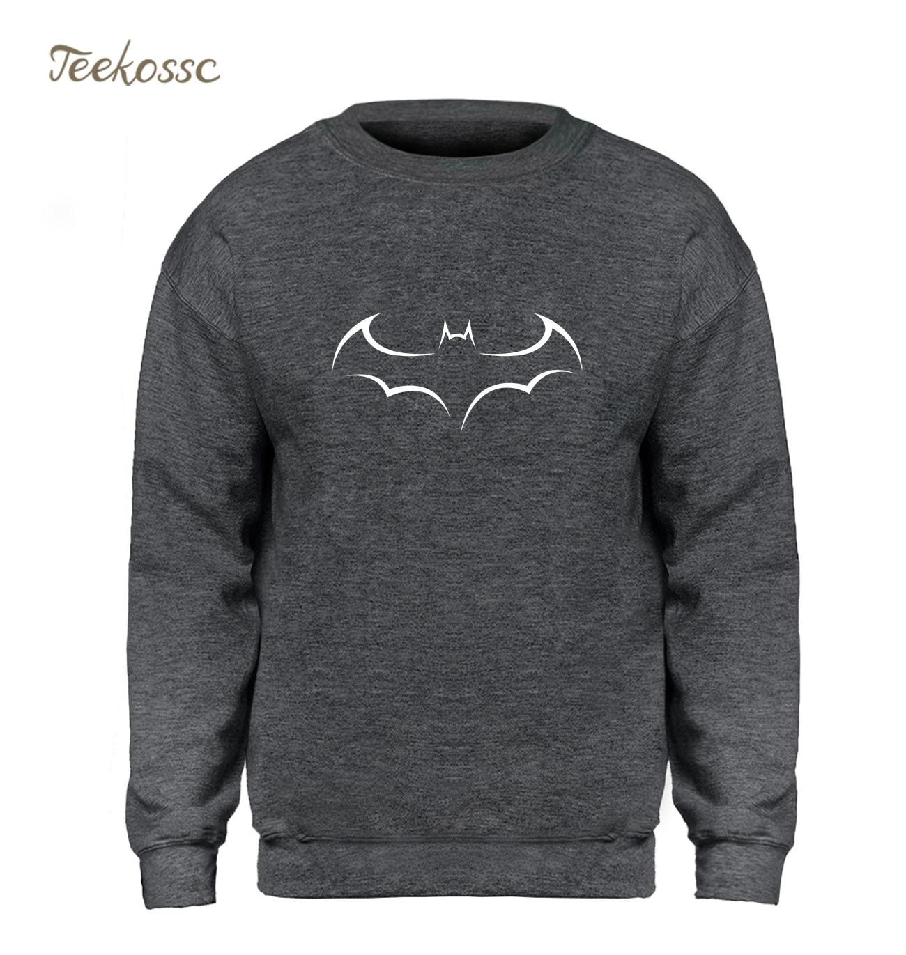 Super Hero Batman Hoodie Men Harajuku Sweatshirt White Sweatshirts 2018 Winter Autumn Casual Fleece Warm Hip Hop Streetwear Mens