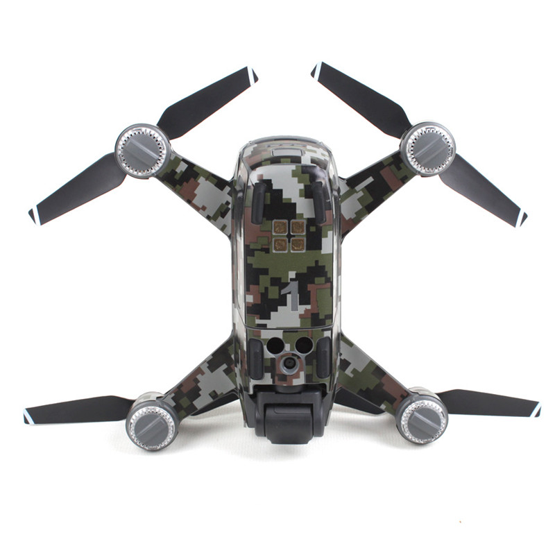 Waterproof Camouflage Graphic Camera Drone Decals for DJI SPARK Drone Body/ Battery/ Arm Drone Accessories