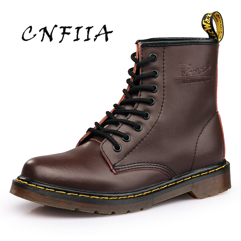 Bottes Plus Martens Chaussures En 45 Black 2018 Taille Brun Cnfiia Casual Cuir Boots Boots red Boots Noir La slip Rouge Hommes Confortable Anti Trekking brown 4wn5qaaX