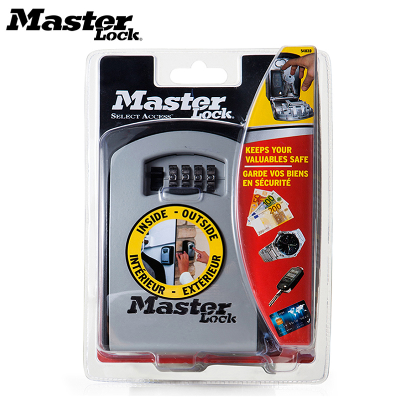 Master Lock Car Key Safe Box Wall Mount Combination Password Lock Metal Alloy Garage Factory Outdoor Storage Box Security Safes