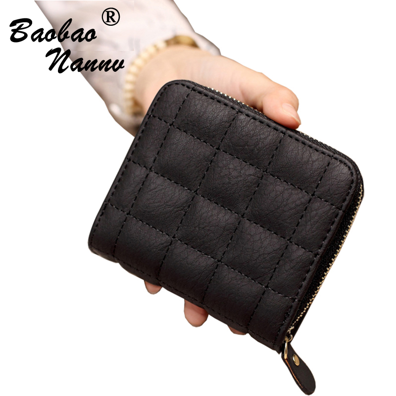 2017 Coin Bag Zipper New Men Women Wallets Small Money Purses Wallets New Design Top Thin Wallet Cute Embroider Clutch Wallets short style stitching grid leather bi fold wallet bag for women
