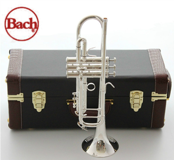 American original Bach trumpet gold and silver plated silver AB-190S silver plated Bach small Musical instruments  professional