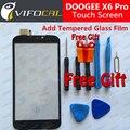 Doogee x6 pro reemplazo panel de la pantalla táctil 100% nuevo original digitalizador de vidrio exterior para doogee x6 pro 5.5 pulgadas teléfono móvil