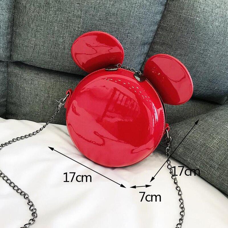 Borsa Mouse Sac Cuoio A Donne Dell'unità Di Qualità red Per Crossbody Black Mickey Orecchie Piccola Ragazze Delle Sveglio G Del Rotonda Elaborazione Sacchetto Tracolla Fumetto Le nBqW6BZR