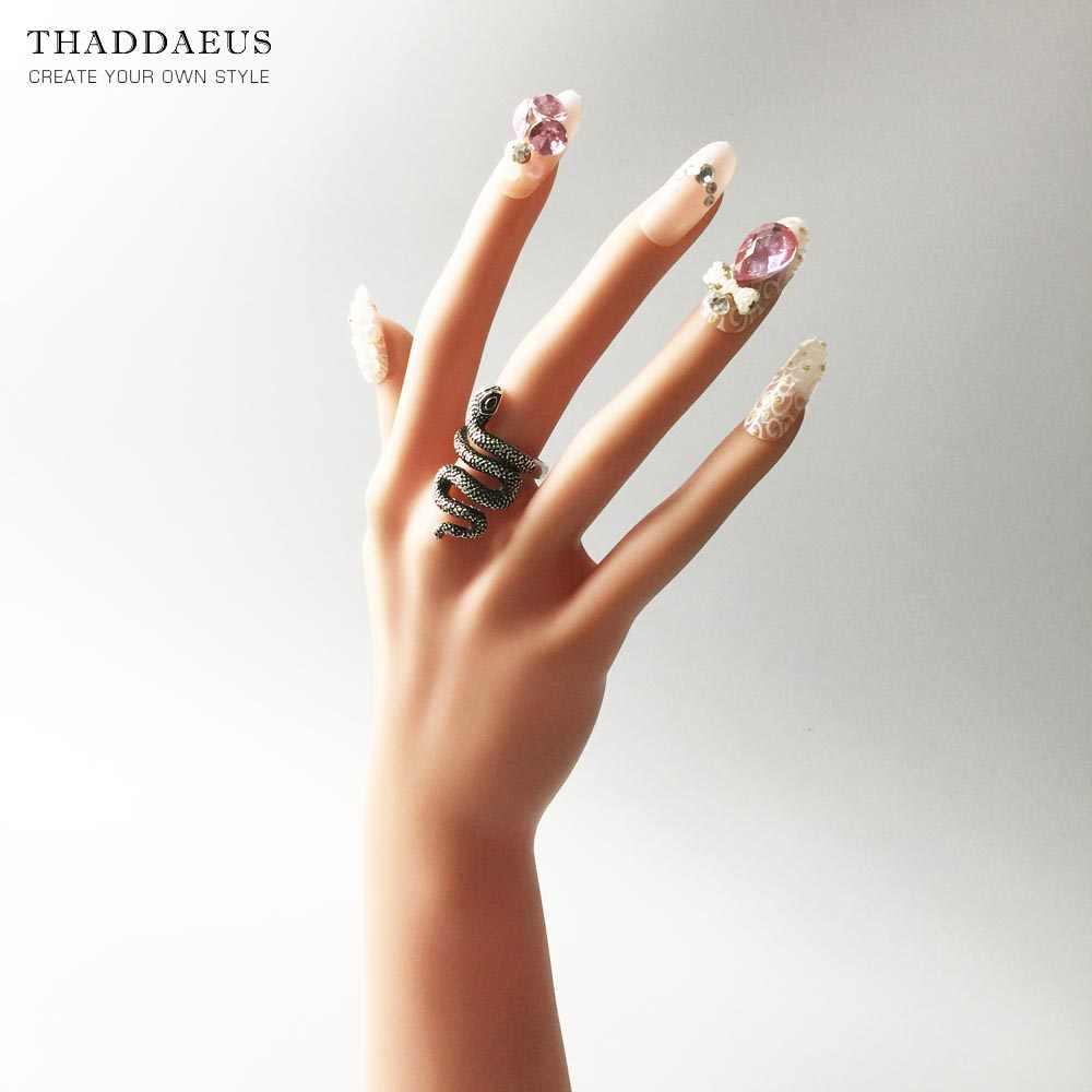 แหวนเงินงู, Thomas สไตล์ Glam แฟชั่นดีเครื่องประดับสำหรับผู้หญิง, 2017 Ts ของขวัญ 925 เงินสเตอร์ลิง, Super Deals