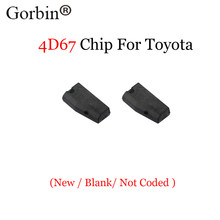 GORBIN 2 шт. * приемопередающий чип ключа автомобиля 4D67 ID 67 иммобилайзер для Toyota CAMERY COROLLA PREVIA REIZ CROWN RAV4 для Lexus