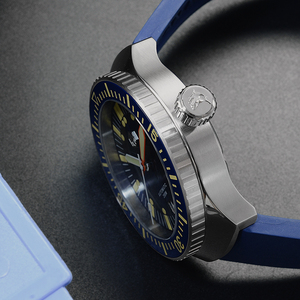 Image 4 - サンマーティンメンズヴィンテージステンレス鋼ダイバー自動発光ゴムリストバンド 200 メートル防水ダイビング腕時計 SN0039