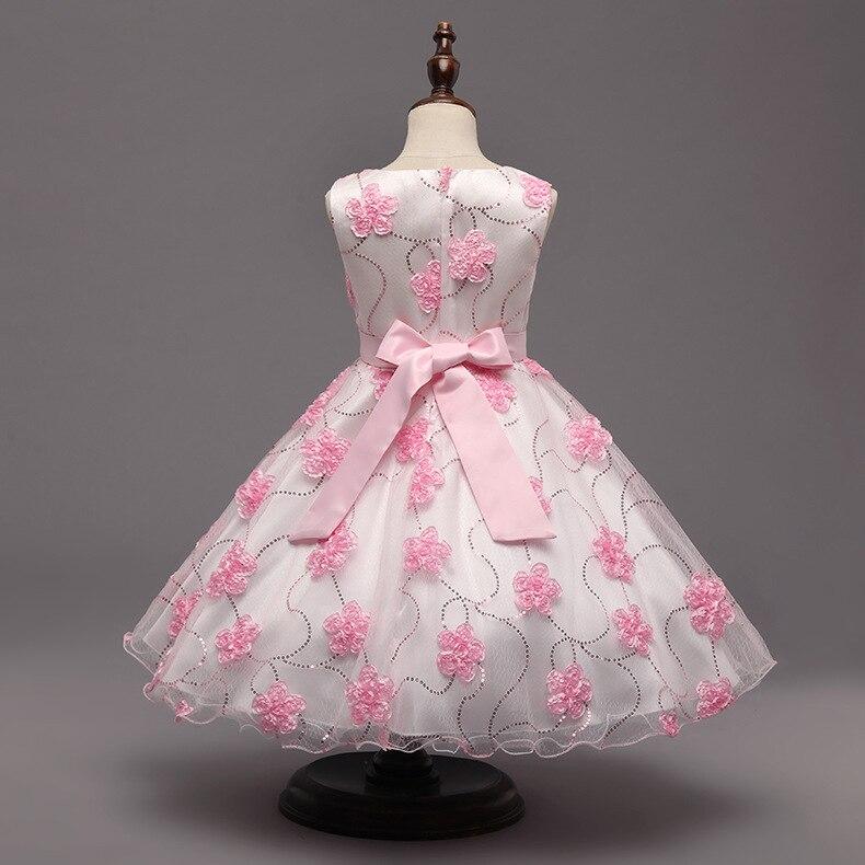 42614abab Baby Girl Floral Dress Elegant Princess Wedding Costume Purple Pink ...