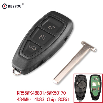 KEYYOU 434/433 мГц 4D83 чип KR55WK48801 3 кнопки автомобиль кнопочный пульт Управление ключ для Ford Focus C-Max Mondeo Kuga Fiesta B-Max