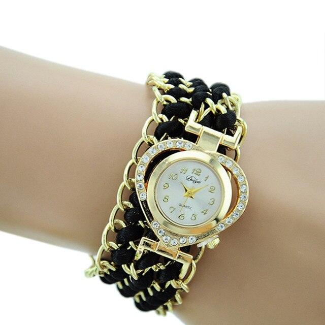 Duoya Watches women Fashion watch 2016 Dropshipping luxury bracelet women wrist watch horloges vrouwen