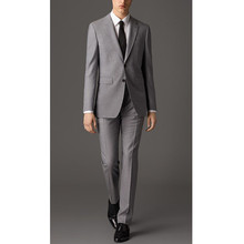 Custom Gray Men's Wedding Suits Groom Tuxedos Formal Business Suits Prom
