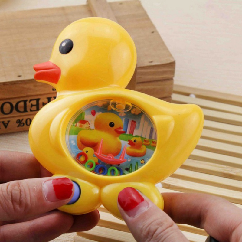 Water Game Water Ring Toss Cartoon Ducks Funny Toy Consoles Children Classic Intellectual Toys Classic Toy