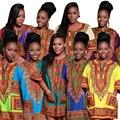 Традиционных Африканских Одежды для Женщин Рубашка Мужская Базен Riche Оранжевый Dashiki Топы Плюс Размер Летом Печати Блузка