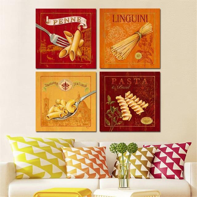 4 stücke Ungerahmt Pasta Leinwanddruck Ölgemälde Moderne Print ...