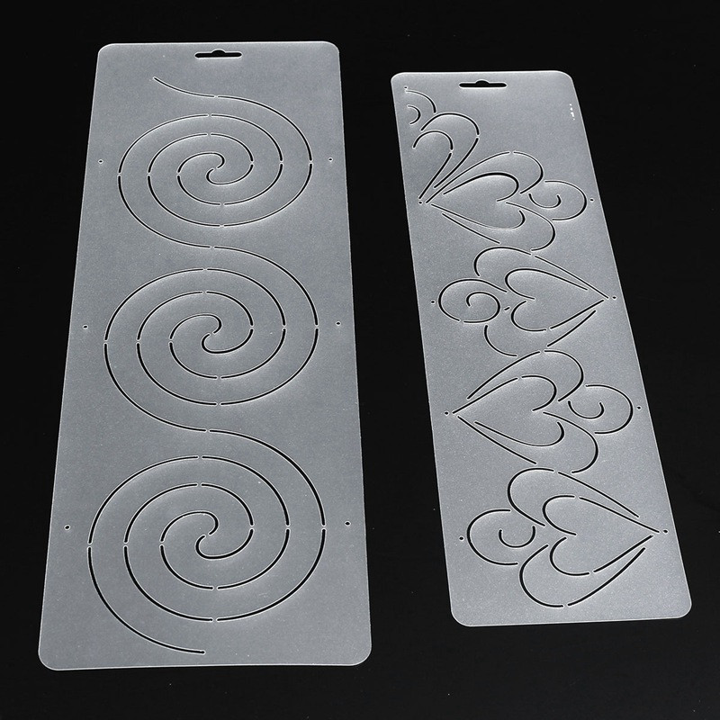 Online Shop 1Pcs Semi-transparent Circle Heart Stencil Plastic ... : plastic quilting stencils - Adamdwight.com