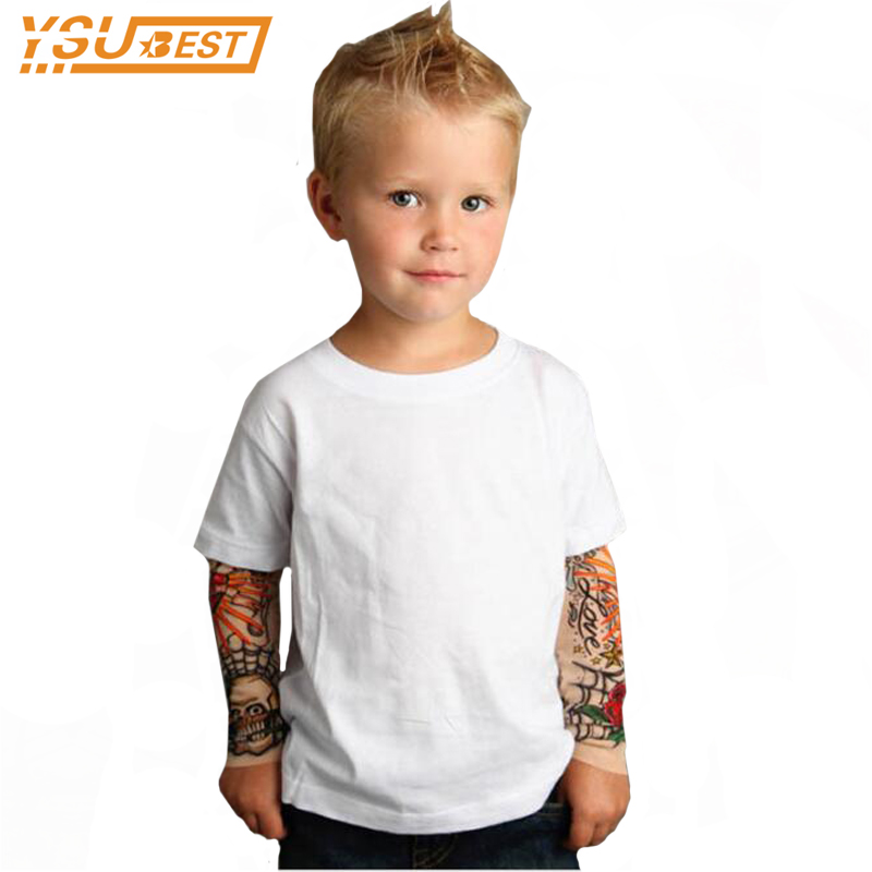Cool 1-7yrsBaby Boys Girls T shirts Tattoo Sleeve Children Mesh Long Sleeve Cotton Tops Tees 2017 Kids & Toddlers Shirts Clothes 2018 fashion autumn winter sweatshirt boys kids child girls t shirts long sleeve letter printed baby toddlers clothes tops