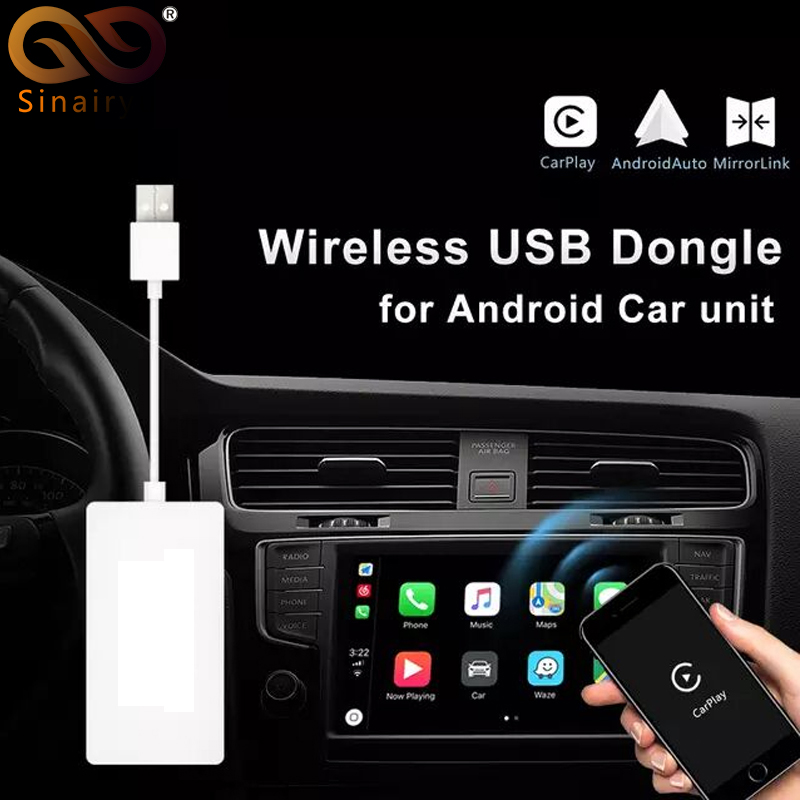 Sinairyu Wireless Smart Link Apple CarPlay Dongle for Android Navigation Player Mini USB Carplay Stick with Android AutoSinairyu Wireless Smart Link Apple CarPlay Dongle for Android Navigation Player Mini USB Carplay Stick with Android Auto
