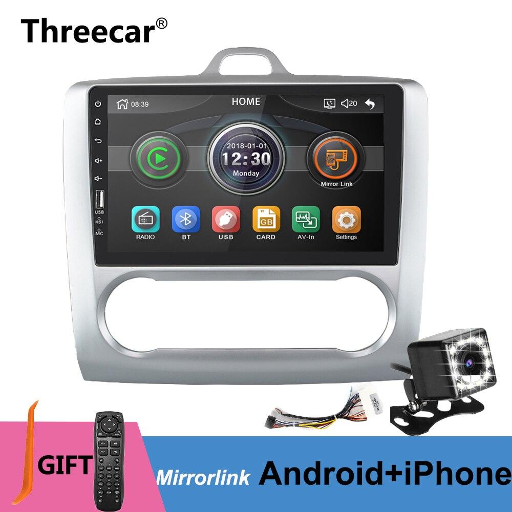 Autoradio Android 2 din 9 pouces mirror link pour Ford Focus 2004-2011 Bluetooth USB contrôle de roue multimédia Autoradio lecteur MP5