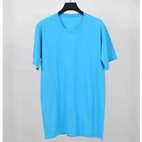 Tees Women T Shirt Basic T Shirt Oversize Blue Short Sleeve 100 Cotton Female Tops 2018