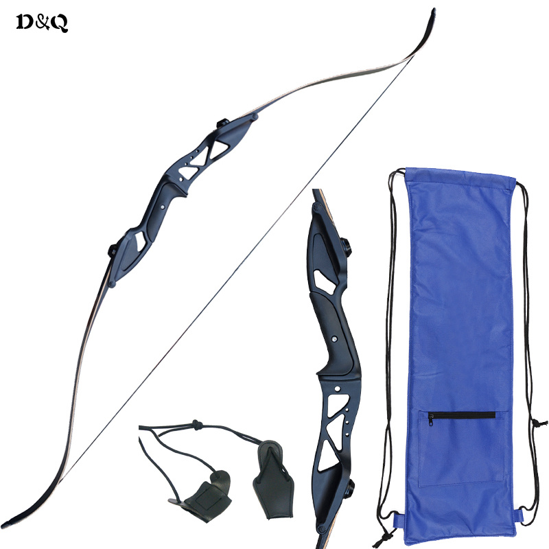 Archery Hunting Recurve Takedown Bow Set 30-50 lbs Aluminum Alloy Right Hand Longbow 54.7 Inch for Outdoor Shooting Target Sport 54 inch recurve bow american hunting bow 30 50 lbs for archery outdoor sport hunting practice