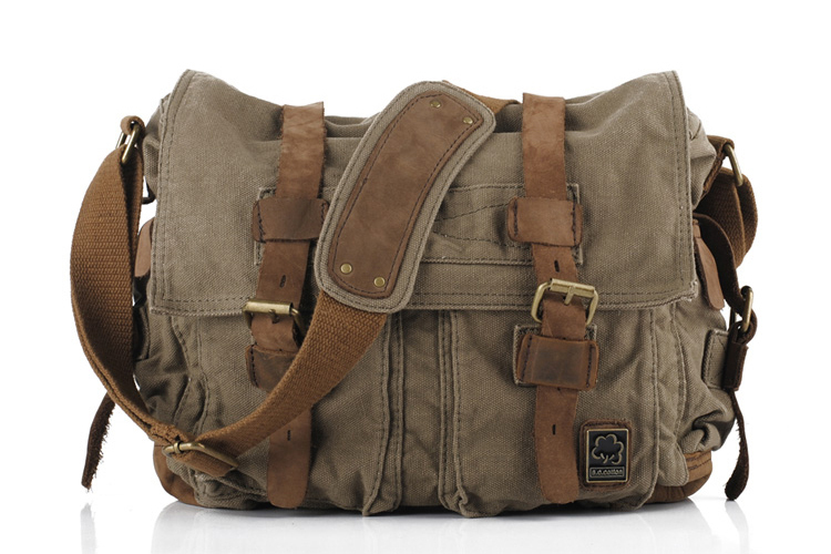World War Ii Will Smith Messenger Bags For Men Leather Canvas Crossbody Shoulder Travel Bolsa Masculina In From Luggage