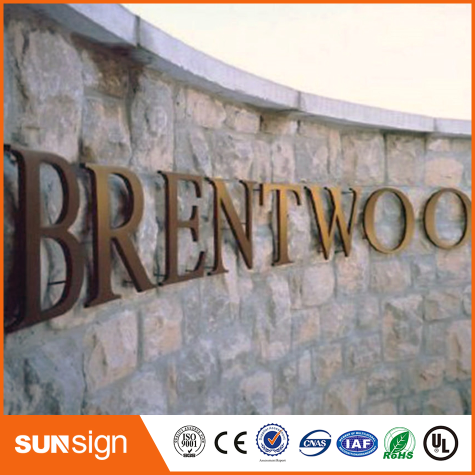 High Quality 3d Stainless Steel Channel Letter