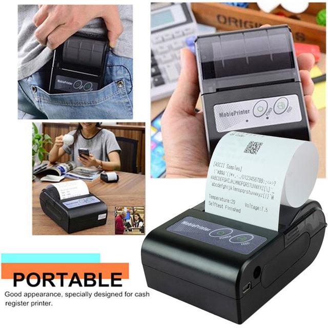 Marca Original Para YOKO 58HB-2 Móvil Portable Impresora Térmica de Recibos Bluetooth Inalámbrico para Android De Windows