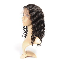FYNHA Brazilian Virgin Hair Loose Wave Full Lace Human hair Wigs With Baby Hair Wigs for women Natural Black Color Free Shipping
