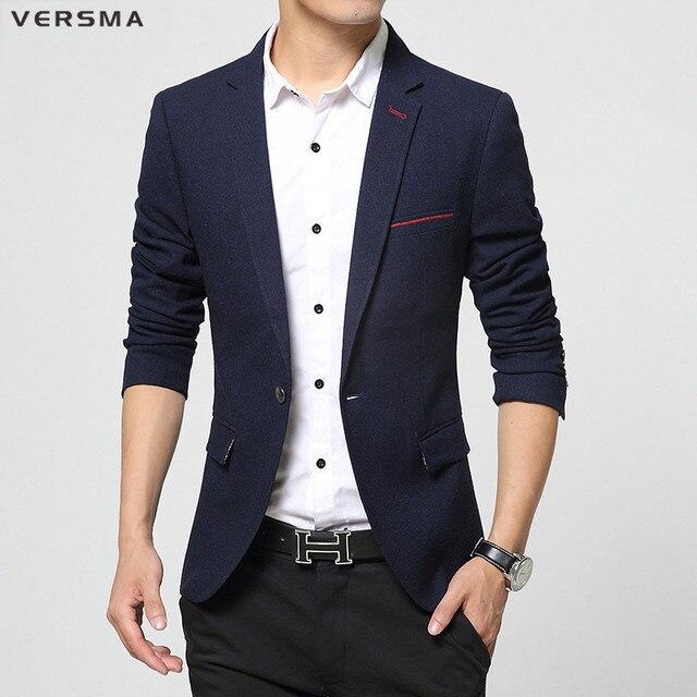 Versma 2017 ropa de estilo coreano para hombre elegante traje chaqueta  blazer partido wear Royal Blue 077a1eedfaa0