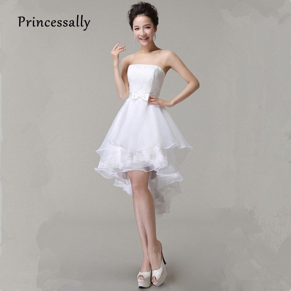 Buy High Low Wedding Dresses Puffy Mid