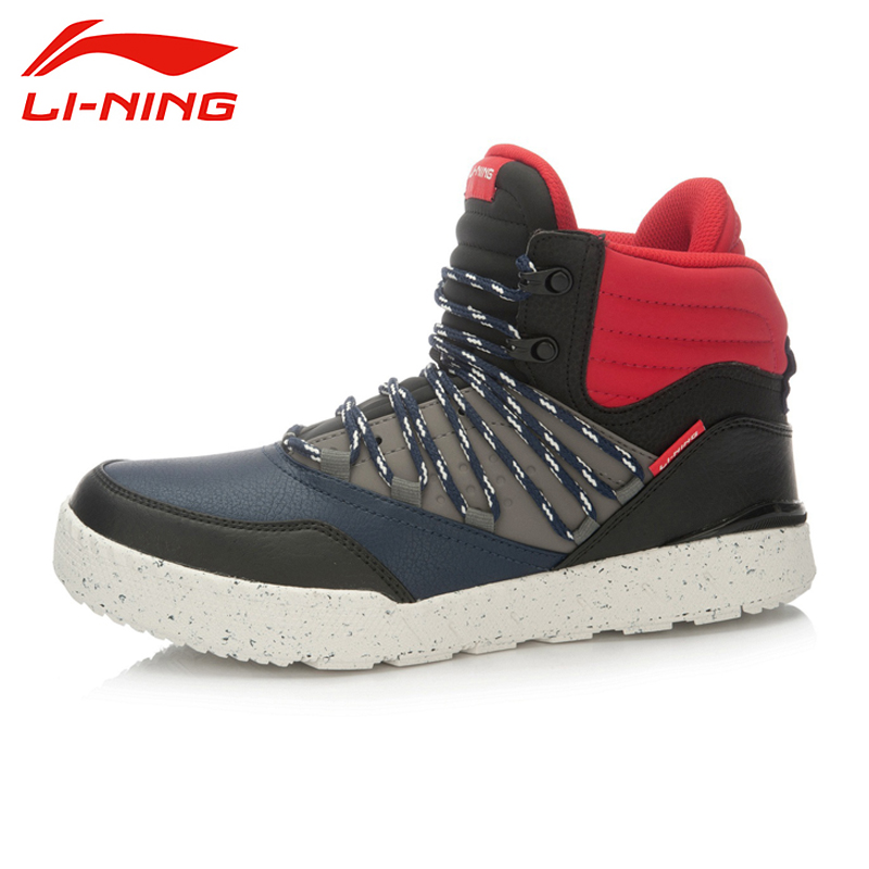 LI-NING New Arrival Skateboard Boot Height Increasing Winter High-top Sport Shoes Sneakers Walking Shoes Men ALAK049 XMR1159 original li ning men professional basketball shoes