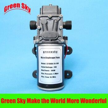 8L/Min 24V DC 100W car washing,medical,chemical equipment,lawn and garden irrigation use priming diaphragm pump