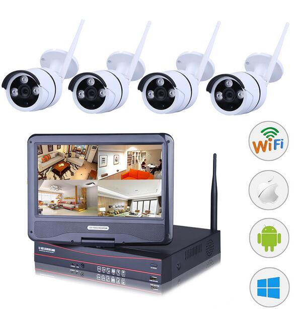 4CH NVR WIFI CCTV Security Camera System 4PCS 1080P HD Outdoor Wireless CCTV Kit Video Surveillance