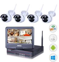 4CH NVR WIFI CCTV Security Camera System 4PCS 1080P HD Outdoor Wireless CCTV Kit Video Surveillance