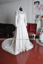 new fashion fashionable romantic sexy backless vestidos de novia long sleeve lace 2018 bridal gown mother of the bride dresses