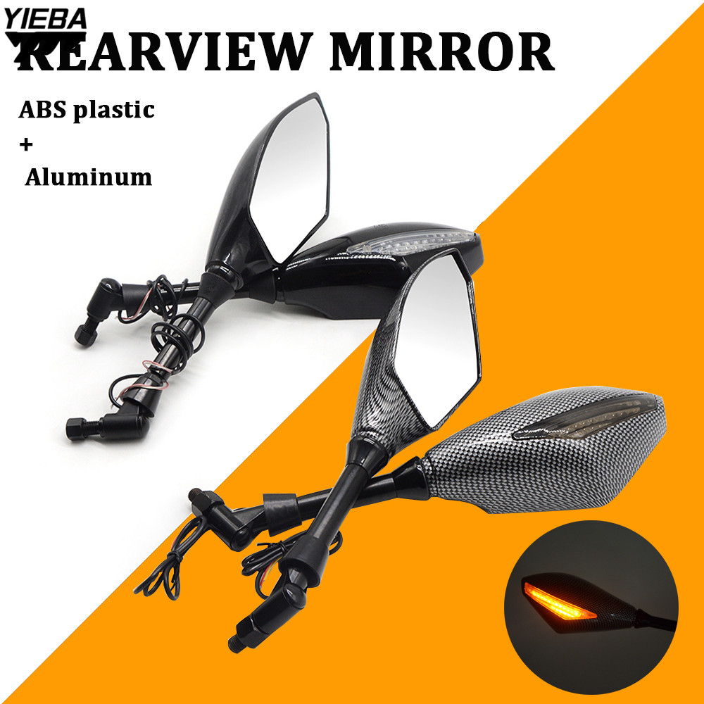 Motorcycle Rear View Mirrors Side Mirror LED Turn Signals Light FOR Aprilia CAPANORD 1200 Rally CAPONORD