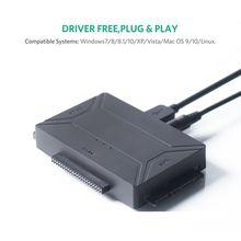 USB3.0 SATA IDE кабель-адаптер Жесткий диск драйвер для 2,5/3,5/5,25 оптический привод HDD SSD с ЕС США Мощность SATA USB 3,0 IDE