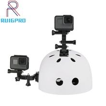 цена на Ruigpro for Helmet Side Mount Kits J-Hook Bracket for GoPro 7 6 5 Black 4 Xiaomi Yi 4K Sjcam Sj5000   Action Camera Accessories