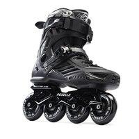 بالغين الرجال المهنية مضمنة تزلج الأحذية حرة أحذية التزلج الأسطوانة patins patines في أبيض/أسود