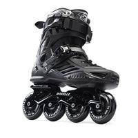 Volwassenen mannen Professionele Inline Skate Schoenen Freestyle Schaatsen Laarzen Outdoor Rolschaatsen Patins Patines Wit/Zwart