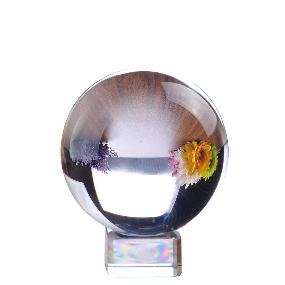 80mm raro claro cuarzo feng shui bola de cristal esfera moda suerte de la decoración de la tabla envío libre