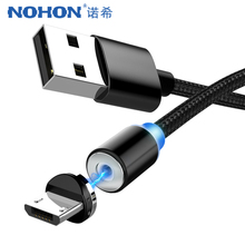 NOHON Nylon Micro USB Magnetic Charging Cable For Samsung Galaxy S7 S6 Huawei Xiaomi Sony Android Phone Magnet Charge Cables 2M